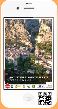 Application mobile sur Moustiers Sainte Marie
