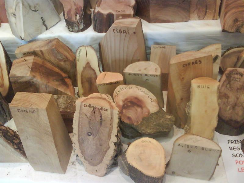 Expositions lors des Journées du bois tourné