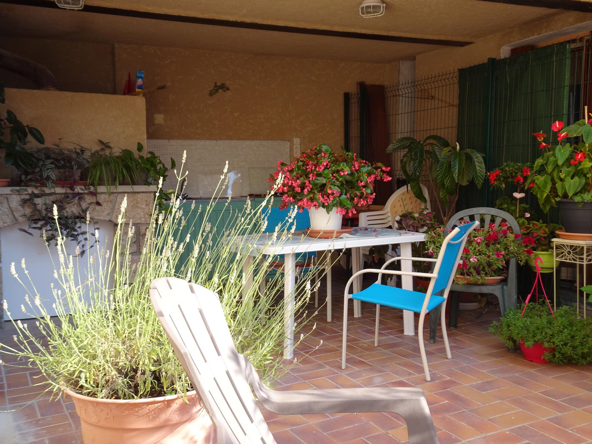 terrasse appartement Coquelicot